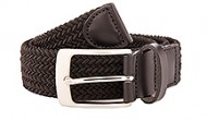 Black Braided Stretch Web Belt