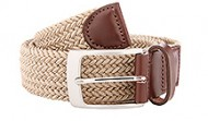 Taupe Braided Stretch Web Belt