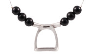 FRJS3 - Stirrup Necklace Black Agate