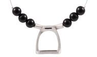FRJS3 - Stirrup Necklace Black Agate