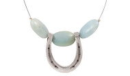 FRJH3 - Horse Shoe Necklace Amazonite