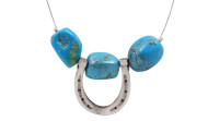 FRJH1 - Horse Shoe Necklace Turquoise