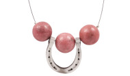 FRJH2 - Horse Shoe Necklace Rhodonite