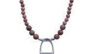 FRS4F - Stirrup & Full Strand Rhodonite