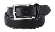 Full Grain Leather Belt White Stitching