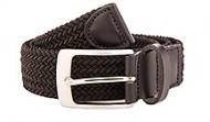 014050 Black Braided Stretch Web Belt