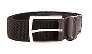 014131 Black Braided Stretch Web Belt