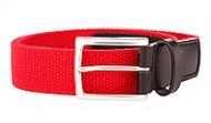 014131 Red Braided Stretch Web Belt