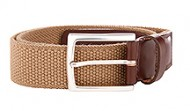 014131 Taupe Braided Stretch Web Belt