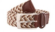 014132 Brown-Beige Multi Braided Stretch Web Belt