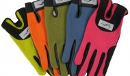 Colored Fanned Gloves